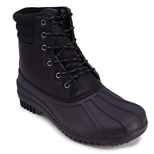 Nautica Mens Duck Boots - Waterproof Shell Insulated Snow Boot - Kelby-Black-13