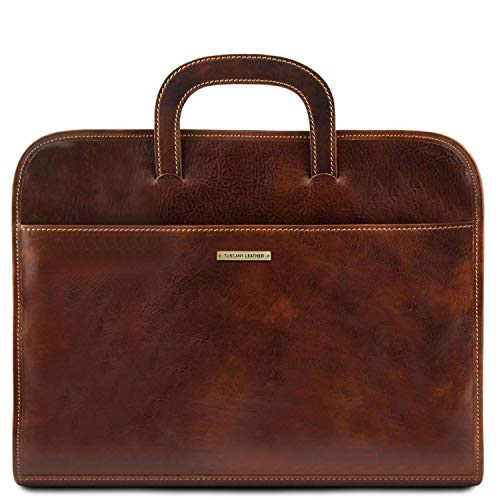 Tuscany Leather Sorrento - Serviette Porte-Documents en Cuir - TL141022 (Marron)