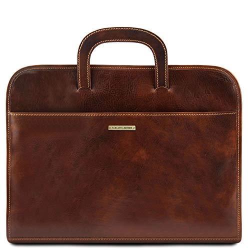 Tuscany Leather Sorrento Portafolio en Piel Marrón