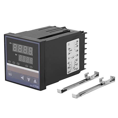 Controlador de temperatura PID REX-C700, 220 V 0-400 ℃ Controlador de temperatura digital PID con termopar