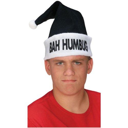 Rubie's Masquerade Noir et Blanc Bah Humbug Bonnet de Père Noël