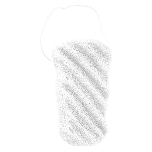 Konjac éponge de lavage visage (blanc ondulé)