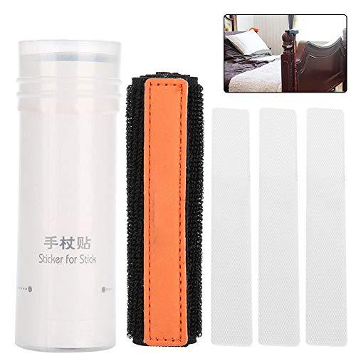 Nylon klittenband voor wandelstok, multifunctionele herbruikbare wandelstok of paraplu-accessoires met 3 stuks zelfklevende stickers