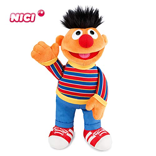 NICI knuffeldier Ernie uit de Sesamstraat – knuffeldier vanaf 12 maanden voor jongens, meisjes, baby's – perfecte beste vriend als knuffeldier om te knuffelen, spelen en slapen 30 cm geel