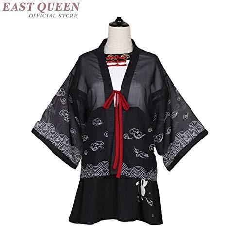 Yukata Weibliche Kimonos Frau Japanische Kimono Traditionelle Kleidung Obi Haori Japanische Cosplay Kleidung Geisha-Kostüm Zzzb (Color : 1, Size : S)