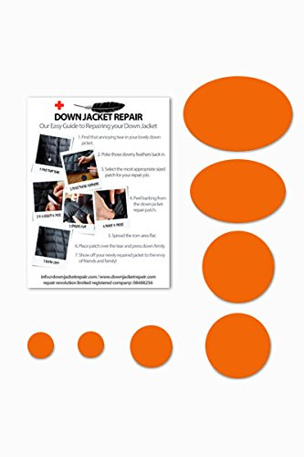 Doudoune Patch de réparation kit (Autocollant) Orange