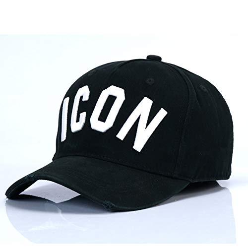JKYJYJ Baseballmütze Baumwolle Buchstaben Männer Frauen Klassisches Logo Hut Snapback Casquette Papa Hüte