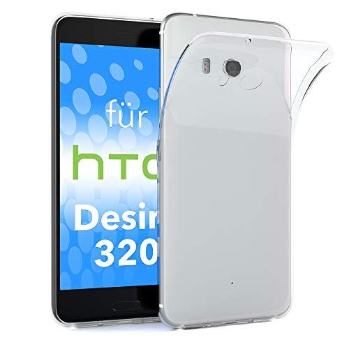 EAZY CASE HTC Desire 320 Schutzhülle Silikon, Ultra dünn, Slimcover, Handyhülle, Silikonhülle, Backcover, Durchsichtig, Klar Transparent