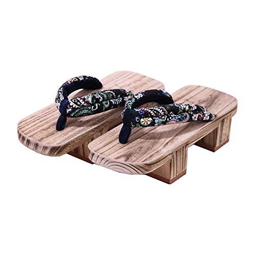 Fancy Pumpkin Japanische traditionelle Schuhe Cosplay Hausschuhe Holz Clog Geta Sandalen, K-04