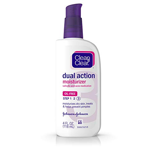 Clean & Clear Dual Action Face Moisturizer, 4 Fl Oz
