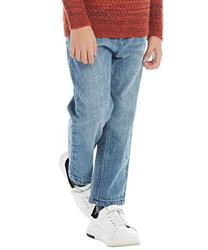 BYCR Boys' Blue Denim Jean Elastic Waist Pants for Kids Size 4-18 No. 71500092 (110 (US Size 4T), Blue)