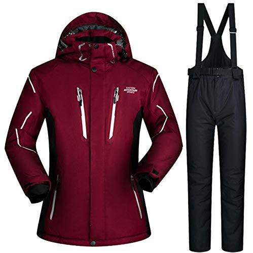 SHANGXIAN Hommes Combinaison de Ski Coupe-Vent Imperméable Respirant Sports d'extérieur Snowboard Ensemble Veste et Pantalon de Ski,B,XL