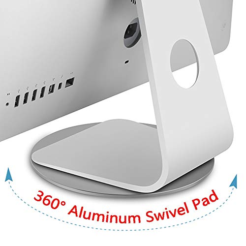 360° Aluminum Rotation Monitor Swivel Base for Apple iMac All in one Computer Dock Laptop Screen Stand Disply Rotating Mount