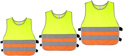 yotijar Colete de Segurança 3x Reflexivo, Cor Neon Brilhante com Listras Reflexivas