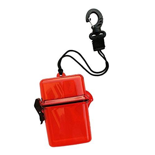 Baoblaze Contenitore per Kayak, Dry Storage Box Impermeabile Contenitore Accessori - Rosso