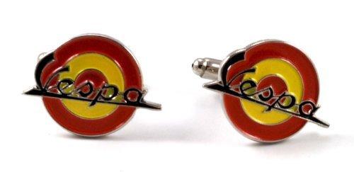 Gemelolandia | vespa Boutons de Manchette logo couleurs de l'Espagne | Pour Hommes et Garçons | Cadeaux Pour Mariages, Communions, Baptêmes et Autres
