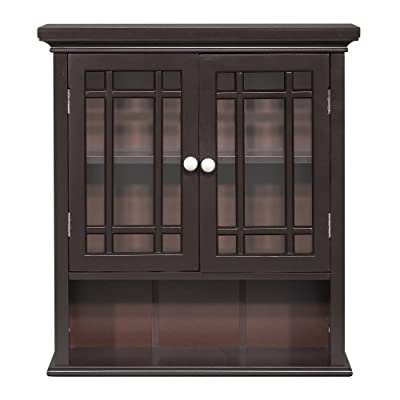 Elegant Home Fashion Neal Wall Cabinet with 2-Door and Shelf