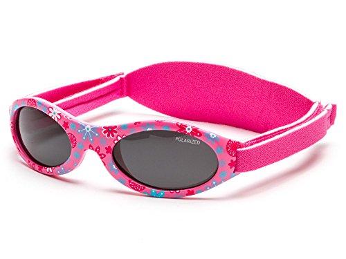 Kiddus Gafas de sol PREMIUM POLARIZADAS para bebé, niño y niña. 0meses a 2años. UV400 100% protección rayos UVA y UVB. Suave puente de SILICONA para la nariz. Banda ajustable de NEOPRENO