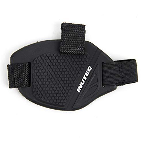LIOOBO Goma Motocross Shift Pad Motocicleta Gear Shifter Shoe Boots Protector Shift Sock Moto Cubierta de la Bota (Negro + Blanco)