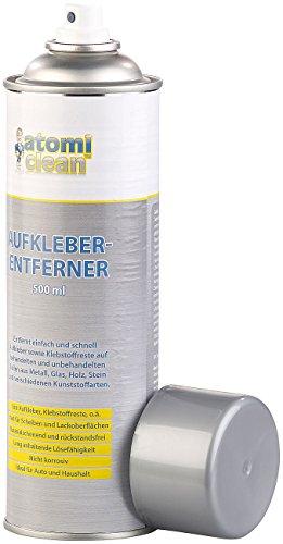 AtomiClean Etikettenlöser: Aufkleber-Entferner, materialschonend, rückstandsfrei, 500 ml (Etikettenentferner)