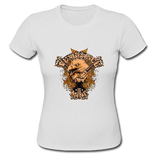 JIUDUIDODO Ladies Eagle Birds Patrón Gildan corto camisetas
