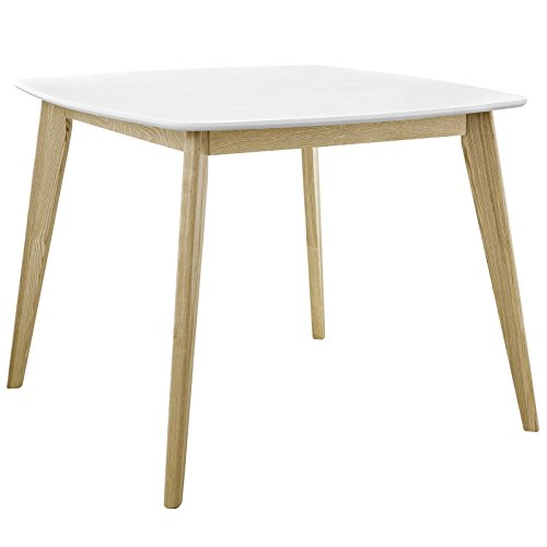 Modway Stratum 40' Mid-Century Modern Kitchen and Dining Room Table in White