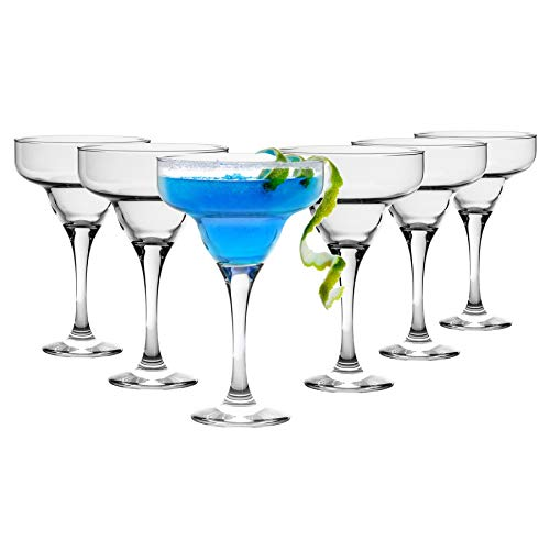 Rink Drink 6 Piece Margarita Cocktail Glasses Set - Classic Style Party...