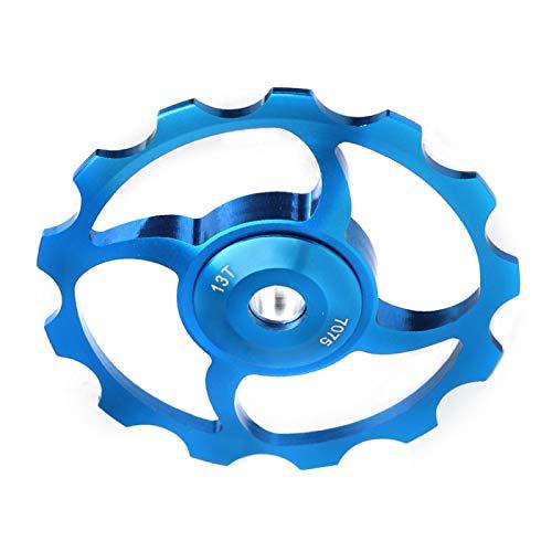 Qqmora Polea de Cambio Trasero de Alta confiabilidad 13T Rodamiento de cerámica Rotación Suave, para Bicicleta, para Montar