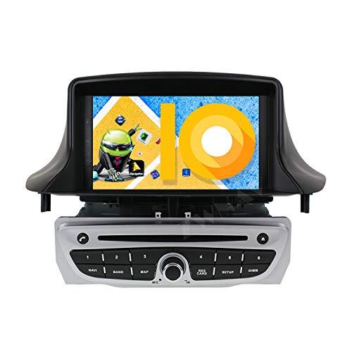 ZWNAV 8 pollici Android 10.0 Car Stereo Autoradio Head Unit, per Renault Megane 3 Fluence 2009-2015, 1080P HD Screen Display DVD Player, Built-in DSP Carplay Navigazione GPS Bluetooth WiFi Mirror Link