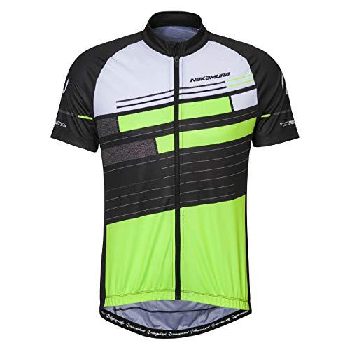 Nakamura Herren Erie Fahrrad-Trikot, Black/Green, L