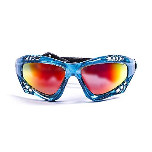 OCEAN SUNGLASSES OCEAN SUNGLASSES - Australia - lunettes de soleil polarisÃBlackrolles - Monture : Bleu Transparent - Verres : Revo Jaune (11701.6)