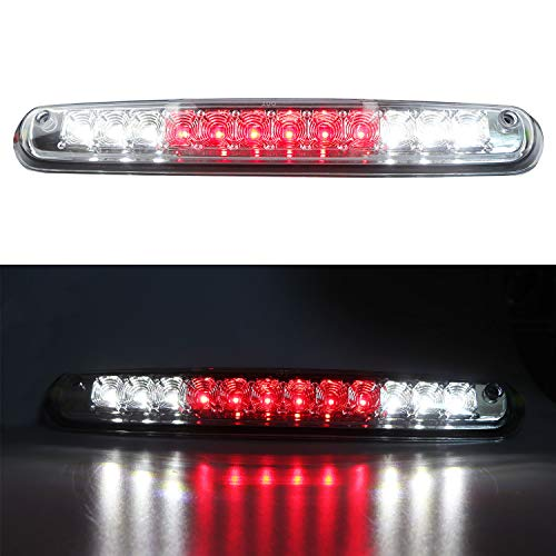 LED 3rd Brake Light Assembly Rear Roof Center High Mount Stop Light Cargo Light Replacement for 2007-2013 Chevrolet Silverado/GMC 1500 2500 HD 3500 HD (Chrome Housing/Clear Lens)