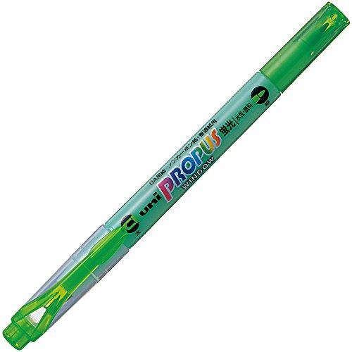 三菱鉛筆 蛍光ペン プロパスウインドウ PUS102T.6 緑 10本