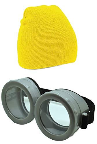 ASVP Shop Herren Sonnenbrille gelb Beanie & Goggle Set Einheitsgröße
