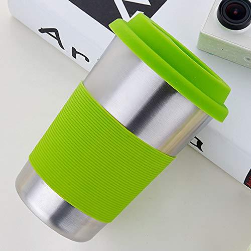 Cuisine multifonction Tasse de boisson de bord de curling en acier inoxydable électropolie à simple paroi 500ml avec bande et capuchon en caoutchouc (orange) , Léger et durable, facile à laver et à ne