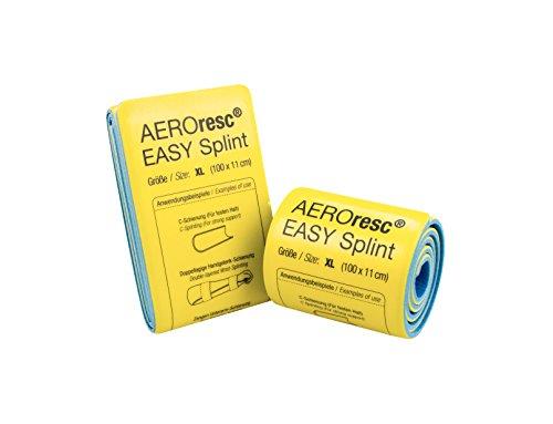 AeroResc Easy Splint Universalschiene groß 100x 11cm Splintschiene Rettungsschiene (Gerollt)