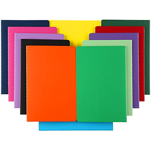 XYark Large Colorful Blank Notebook Journals Bulk with Thick Unlined Paper, 8.5x11 inch, 60 Pages, Journal Set for Travelers Students Office, Sketchbook Composition Diary Subject Notebooks, 12 Pack