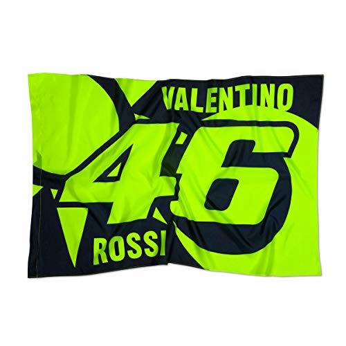 Valentino Rossi Fahne Sonne und Mond blau + 2X FANERGY Traubenzucker
