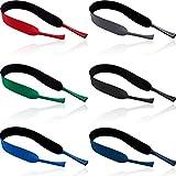 6 Piezas correa gafas deporte Universal Gafas de Retención Ajustable de los Deportes de Gafas de sol Soporte para la correa