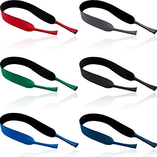 6 Stücke Brillenband Neopren Brillen Halter Schwimmen Sport Brillenband für Damen Kinder Herren geeignet für Sportbrillen Sonnenbrillen & Lesebrillen