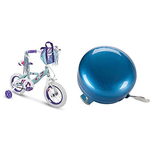 Huffy 12' Kid Training Wheel Bike Bundle with Blue Bicycle Bell