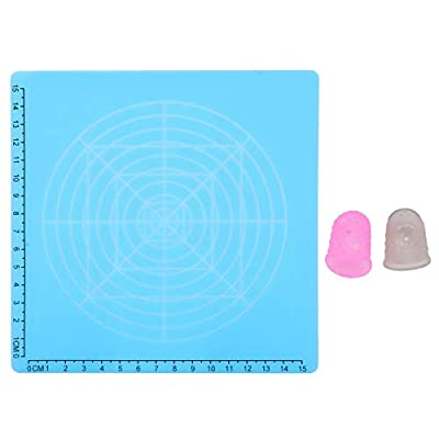 3D Printing Pad Silicone Design Mat Drawing Pad with Basic Template 3D Pen Accessories with Finger Cap