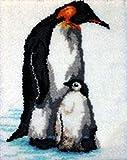 Latch Hook Kits De Impresión De Dibujos Animados con Herramienta Básica e Instrucciones para Hacer Pingüino Lindo Alfombras,Penguin,52x52cm/20x20inch