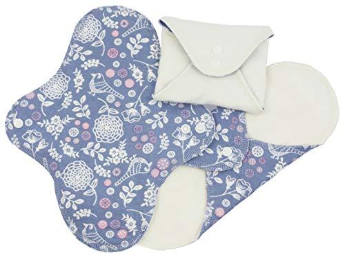 ImseVimse wasbare damesbanden Panty Regular Night design: bloementuin Regular (9x24,5 cm)