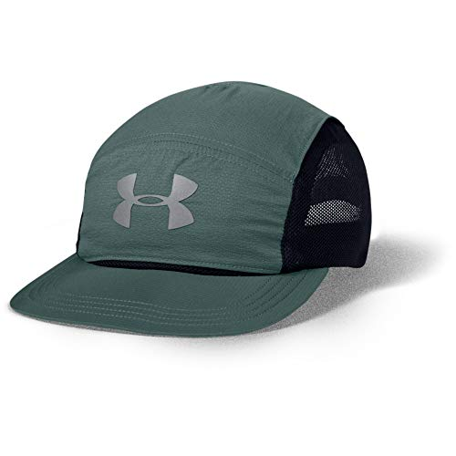 Under Armour Adult Run Packable Cap , Lichen Blue (424)/Silver Reflective , One Size