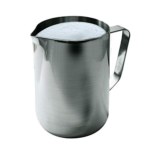 Update International EP-12 12 Oz Stainless Steel Frothing Pitcher, Silver