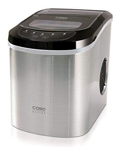 Caso 3301 IceMaster Pro Eiswürfelmaschine, 18/8 Edelstahl, 2.2 liters, Silber