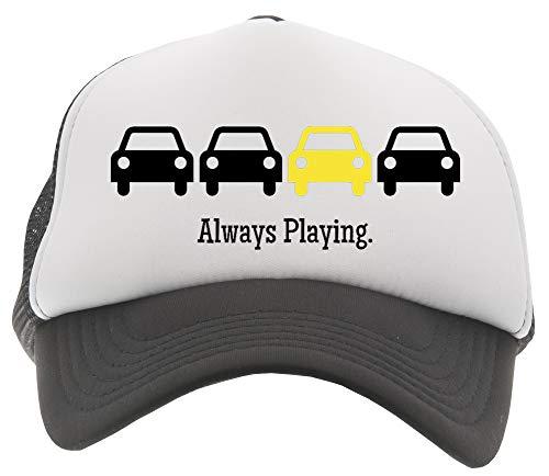 Always Playing Yellow Car Gorra De Béisbol Camionero Niños Negro Baseball Trucker Kids Cap Black