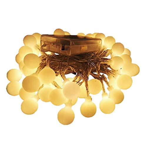 SeniorMar-UK 4 Meter wasserdichte LED Globe Lichterkette Lichterkette Sternenlicht Led Lichterkette Für Zuhause Weihnachtsdekoration Party DIY warmweißes Licht