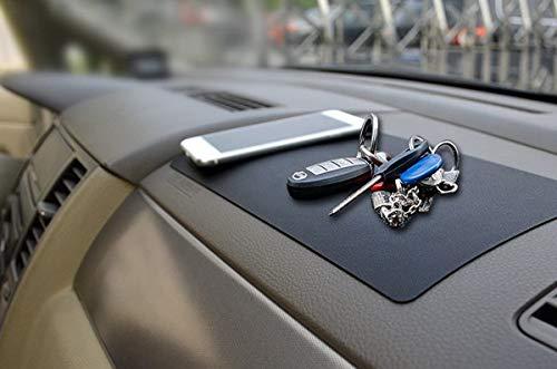 Alfombrilla de silicona antideslizante para salpicadero de coche, alfombrilla adhesiva antideslizante para teléfonos móviles, gafas, llaves, monedas, dispositivos electrónicos, tamaño: 27 cm x 15 cm